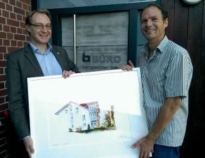 Herr Bergander mit dem Künstler Erik Limmer